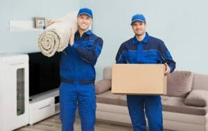 Phoenix AZ movers in customers home