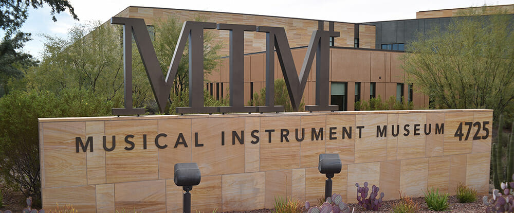 Outside of the Phoenix Musical Instrument Museum