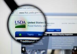 usda website under a magnifying glass