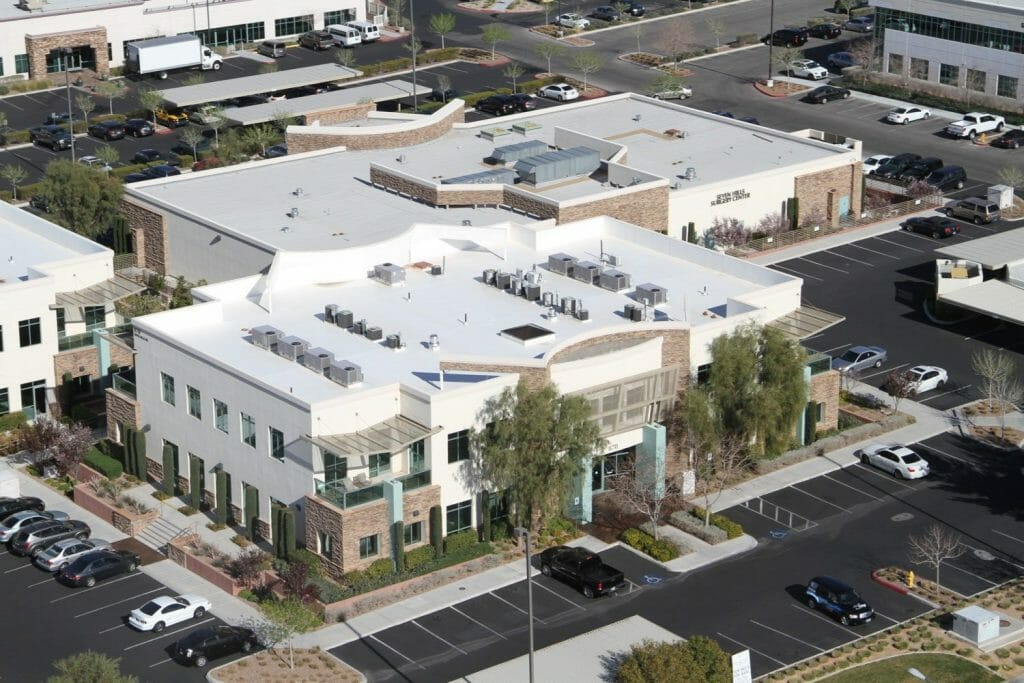 Huge Office Building Complex located in Henderson Nevada Aerial View