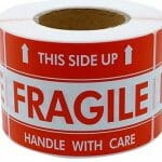 fragile this side up moving stickers