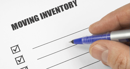 moving electronics inventory sheet