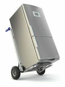 moving refrigerator appliance