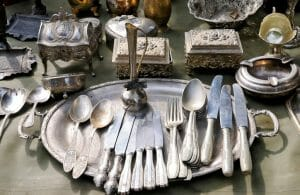 moving antique china and silverware